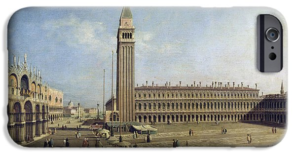 Piazza San Marco iPhone Cases - Piazza San Marco Venice  iPhone Case by Canaletto