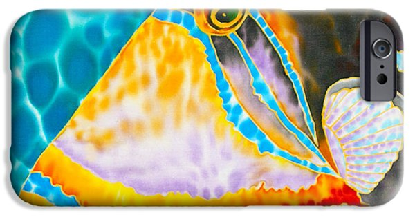 Triggerfish Print On Canvas iPhone Cases - Picasso Trigger Face iPhone Case by Daniel Jean-Baptiste
