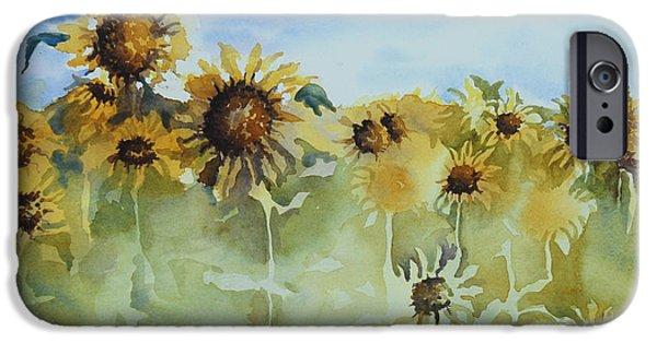 Sunflower Fields iPhone Cases - Pick Me iPhone Case by Gretchen Bjornson