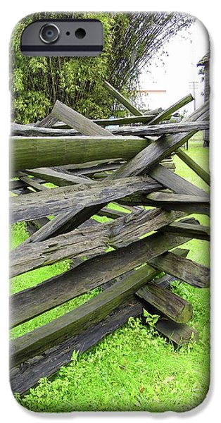 Old Barn iPhone Cases - Picket Fence iPhone Case by D Hackett