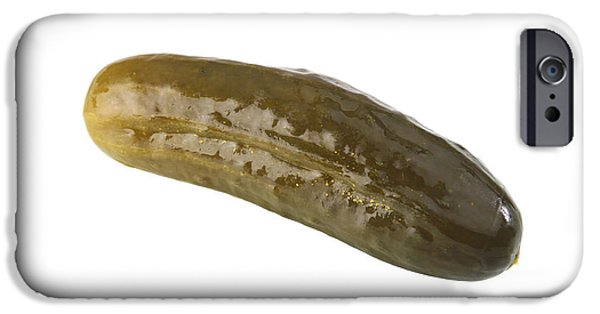 Vinegar iPhone Cases - Pickle iPhone Case by Michael Ledray