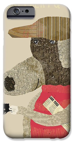 Black Dog iPhone Cases - Picklebery Dog iPhone Case by Bri Buckley