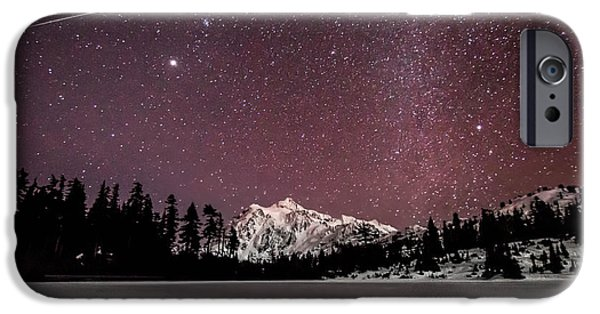 Epic iPhone Cases - Picture Lake at Midnight iPhone Case by Ryan McGinnis