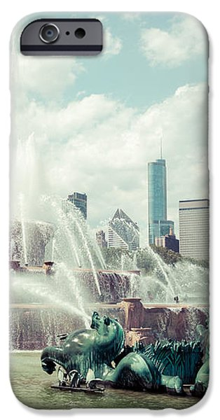 Picture of Buckingham Fountain with Chicago Skyline iPhone Case by Paul Velgos