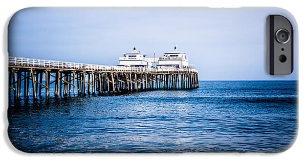 Malibu iPhone Cases - Picture of Malibu Pier in Southern California iPhone Case by Paul Velgos
