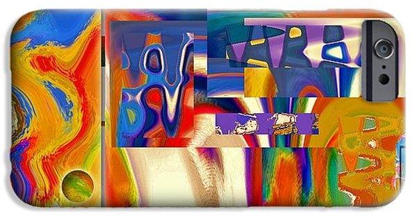 Abstract Digital Photographs iPhone Cases - Pieces of a Abstract  iPhone Case by David Healey