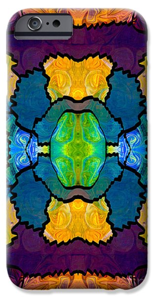 Petals Tapestries - Textiles iPhone Cases - Pieces Of The Puzzle Organic Bliss Designs iPhone Case by Omaste Witkowski