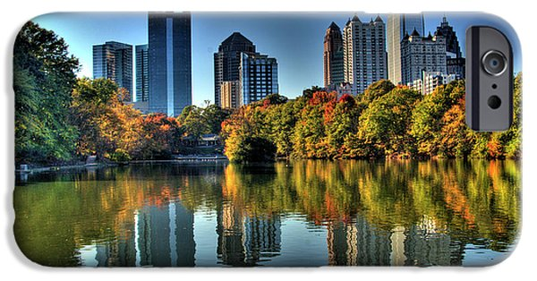 Commercial Photography iPhone Cases - Piedmont Park Atlanta City View iPhone Case by Corky Willis Atlanta Photography