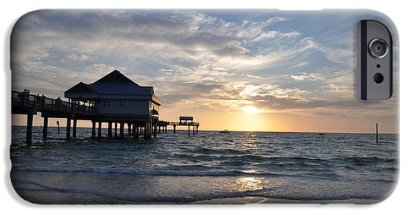 Pier Digital Art iPhone Cases - Pier 60 at Clearwater Beach Florida iPhone Case by Bill Cannon