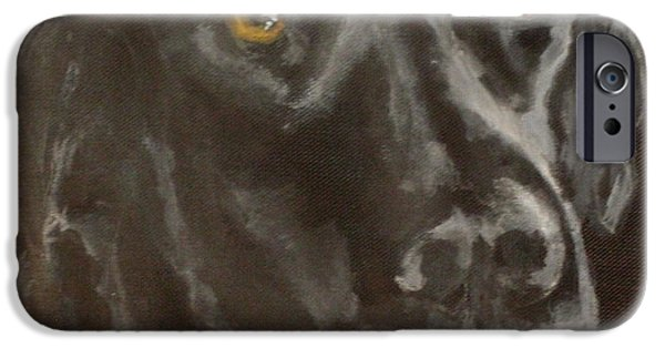Black Dog iPhone Cases - Pier iPhone Case by Carol Russell