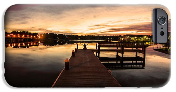 Boat Tapestries - Textiles iPhone Cases - Pier Meditation iPhone Case by James Hennis