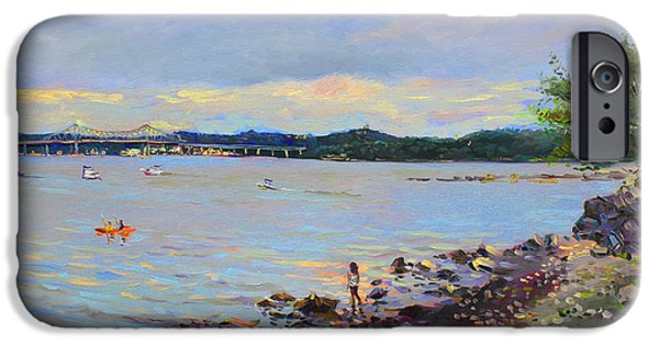Hudson River iPhone Cases - Piermont Shore NY iPhone Case by Ylli Haruni