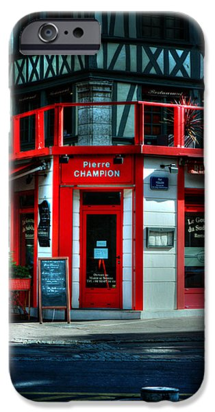 South West France iPhone Cases - Pierre Champion Rouen France iPhone Case by Tom Prendergast