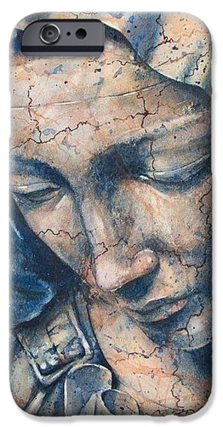 Statue Portrait Paintings iPhone Cases - Pieta iPhone Case by Fran McGarry