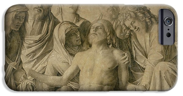 Biblical Drawings iPhone Cases - Pieta iPhone Case by Giovanni Bellini