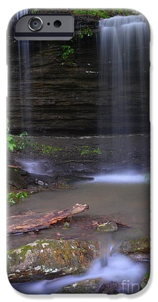 Arkansas iPhone Cases - Pig Trail Falls iPhone Case by Deanna Cagle