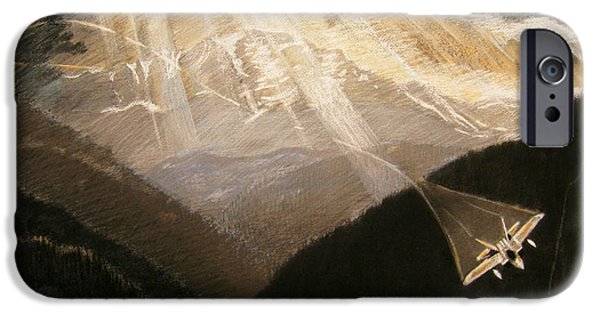 Sun Rays Drawings iPhone Cases - Pikes Peak Flight iPhone Case by Nils Beasley