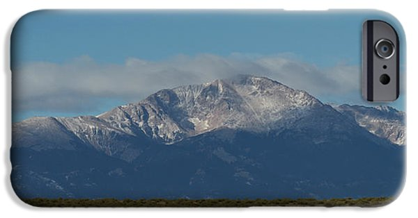 Front Range iPhone Cases - Pikes Peak Panoramic iPhone Case by Ernie Echols