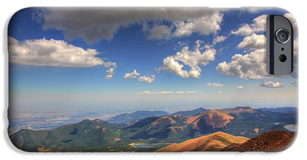 Summit iPhone Cases - Pikes Peak Summit iPhone Case by Shawn Everhart