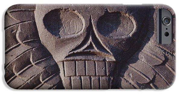 Pilgrims iPhone Cases - Pilgrim Tombstone iPhone Case by The Phillip Harrington Collection