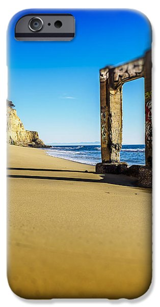 Santa Cruz Pier iPhone Cases - Piling iPhone Case by Steve Spiliotopoulos
