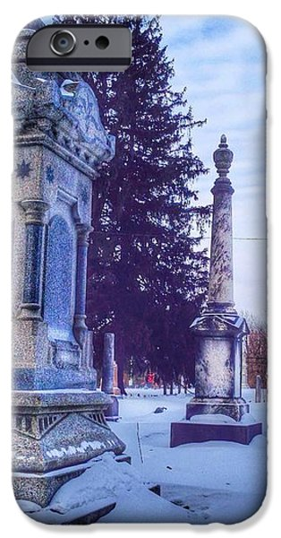 Headstones iPhone Cases - Pillar iPhone Case by 2141 Photography