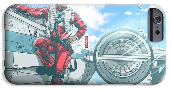 Xwing iPhone Cases - Pilot Poe Wing Episode VII  iPhone Case by Akyanyme