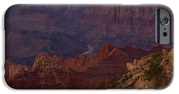 Grand Canyon iPhone Cases - Pima Point Sunset iPhone Case by Stephen  Vecchiotti
