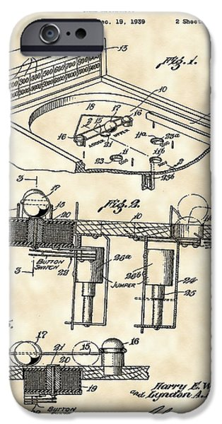 Basement iPhone Cases - Pinball Machine Patent 1939 - Vintage iPhone Case by Stephen Younts