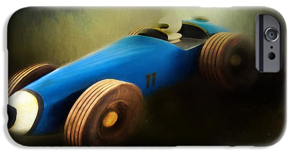 Racing iPhone Cases - Pine Box Derby iPhone Case by David and Carol Kelly
