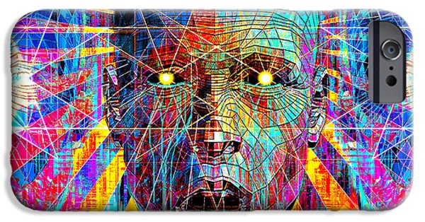 Abstract Digital Tapestries - Textiles iPhone Cases - Pineal Gland Optics iPhone Case by Marcus Mattern