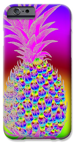 1890Õs iPhone Cases - Pineapple iPhone Case by Eric Edelman