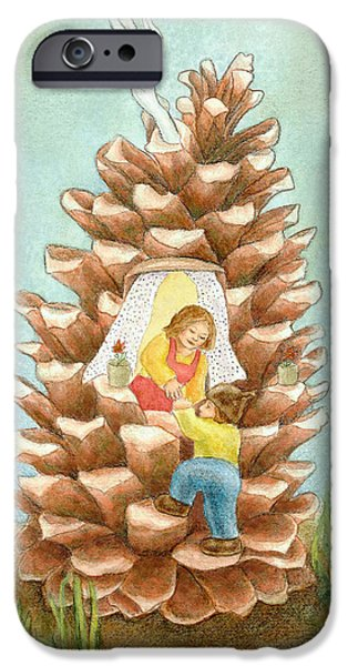 Little iPhone Cases - Pinecone House iPhone Case by Thacia Langham