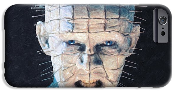 Barker iPhone Cases - Pinhead iPhone Case by Taylan Soyturk