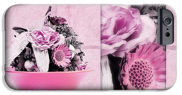 Decorativ iPhone Cases - Pink iPhone Case by Angela Doelling AD DESIGN Photo and PhotoArt