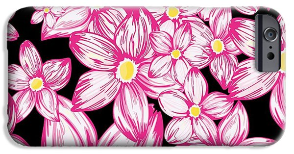 Spring Tapestries - Textiles iPhone Cases - Pink cherry blossoms  iPhone Case by Elena Samoilova