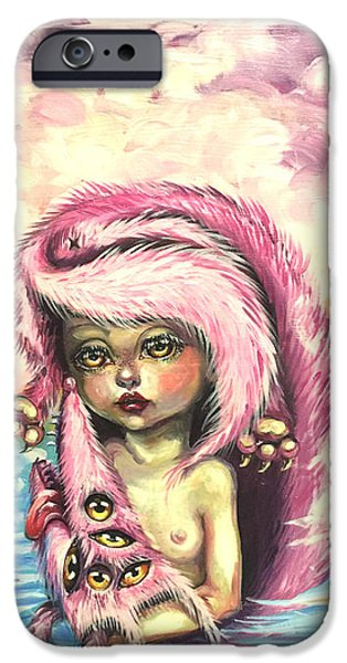 Dogs iPhone Cases - Pink Dog iPhone Case by Julia Jane J-Art-J