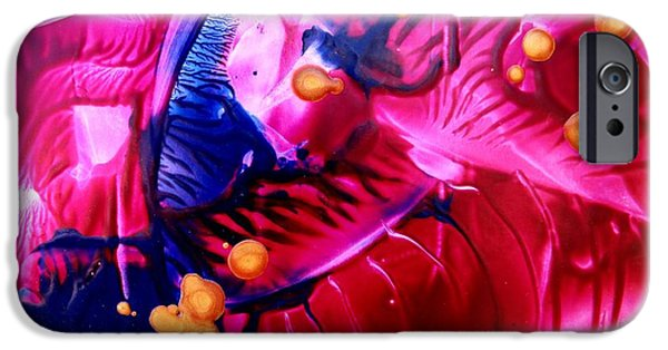 Business Paintings iPhone Cases - Bedazzeled iPhone Case by Louise Adams