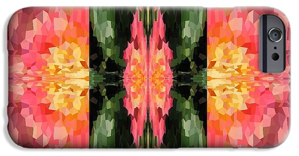 Abstract Digital Photographs iPhone Cases - Pink Fantasy iPhone Case by Kathie Chicoine