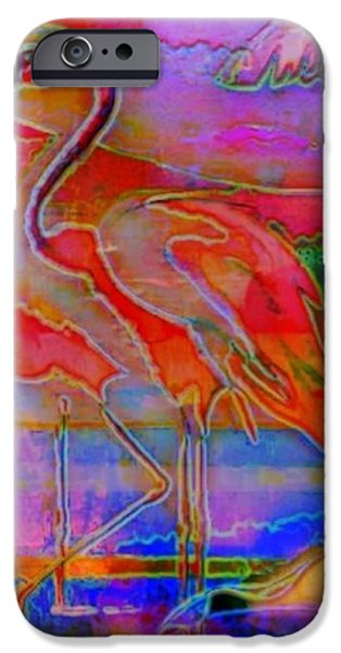 Pink Flamingos iPhone Case by WBK