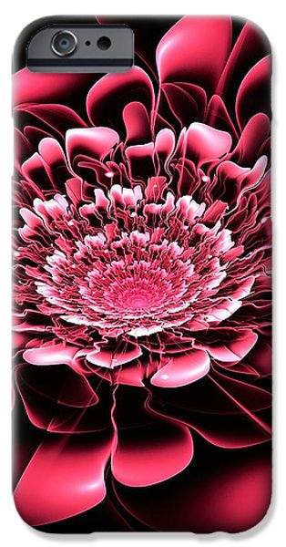 Blooming iPhone Cases - Pink Flower iPhone Case by Anastasiya Malakhova