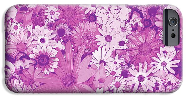 Plant iPhone Cases - Pink Flowers iPhone Case by JQ Licensing