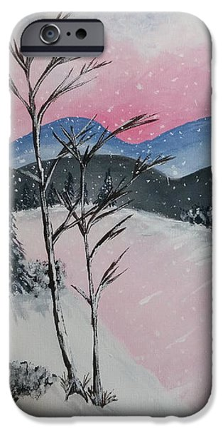 Canvas iPhone Cases - Pink Frost iPhone Case by Nura Abuosba