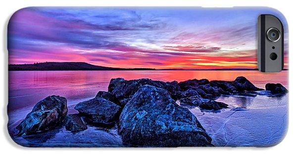 Morning iPhone Cases - Pink Ice at Dawn iPhone Case by Bill Caldwell -        ABeautifulSky Photography