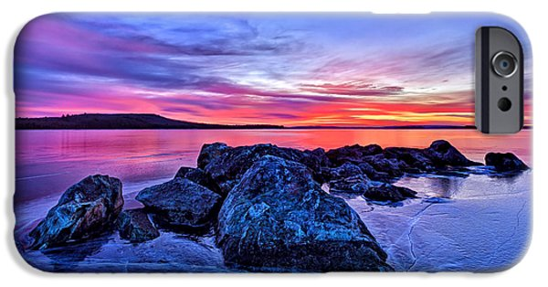 Downeast iPhone Cases - Pink Ice at Dawn iPhone Case by Bill Caldwell -        ABeautifulSky Photography