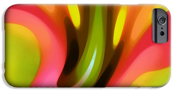 Abstract Forms iPhone Cases - Pink Lily Horizontal iPhone Case by Amy Vangsgard