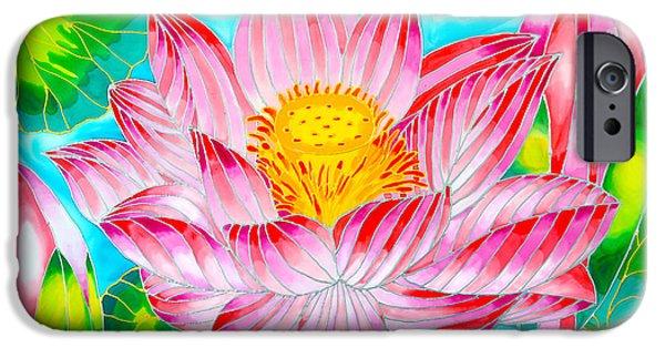 Buddhist Tapestries - Textiles iPhone Cases - Pink Lotus of Belize iPhone Case by Lee Vanderwalker