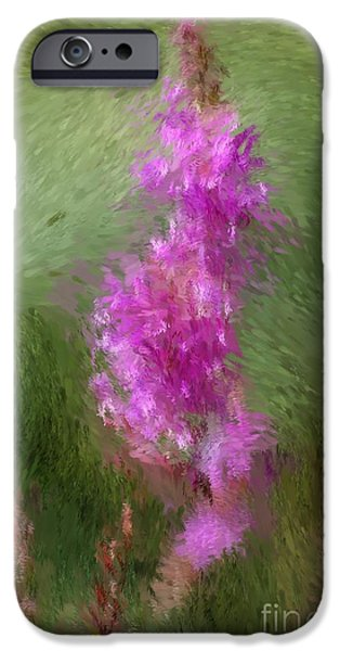 Pink nature abstract iPhone Case by David Lane