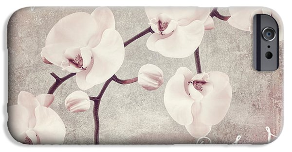 White Orchid iPhone Cases - Pink Orchids iPhone Case by Mindy Sommers