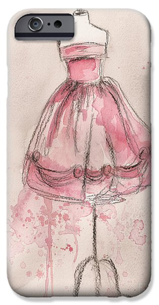 Loose iPhone Cases - Pink Party Dress iPhone Case by Lauren Maurer